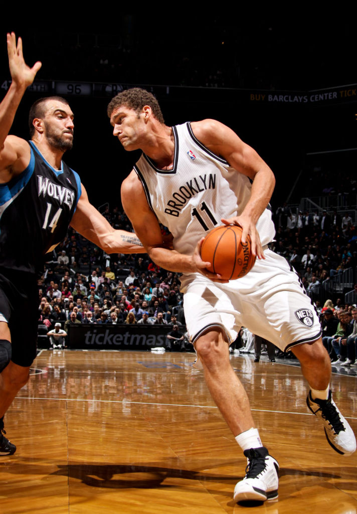 Brook Lopez wearing adidas adizero Ghost 2 White Black