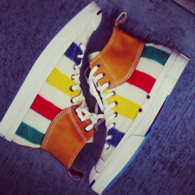 Chad Johnson Picks Up Hudson's Bay Company x Converse Jack Purcell Duck Mid
