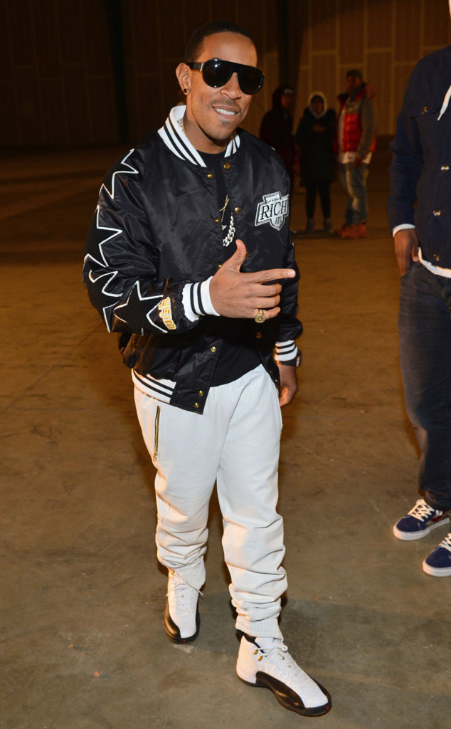 Ludacris wearing Air Jordan 12 Retro Taxi