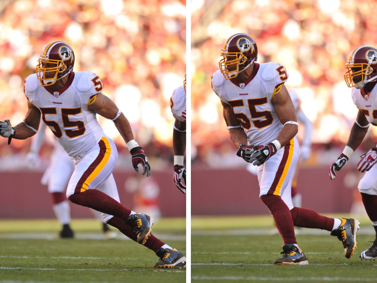 Jason Taylor Wearing Air Jordan III 3 Redskins PE Cleats (3)