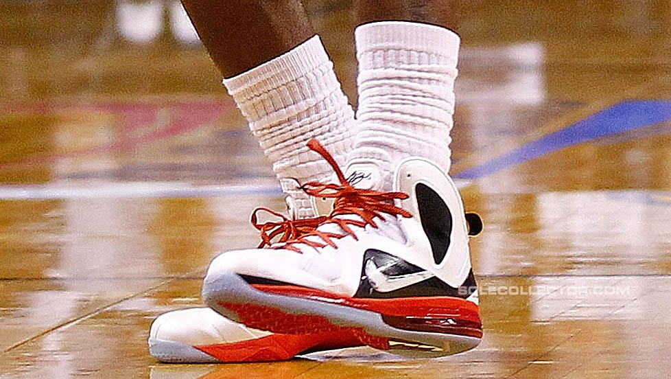 Nike LeBron 9 P.S. Elite White Black Red PE (4)