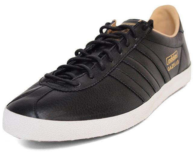 adidas gazelle og leather black