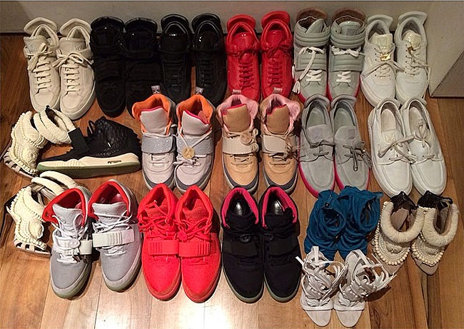 Kim Kardashian Shares Kanye West Sneaker Collection