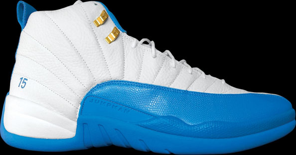 Carmelo Anthony wearing Air Jordan 12 Nuggets Home PE (2)