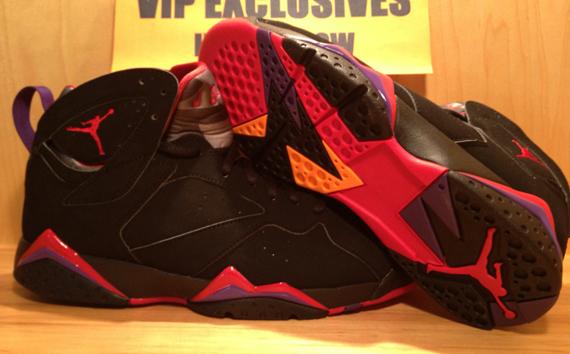 Air Jordan 7 Retro - Black/True Red-Dark Charcoal-Club Purple - Detailed  Look | Sole Collector