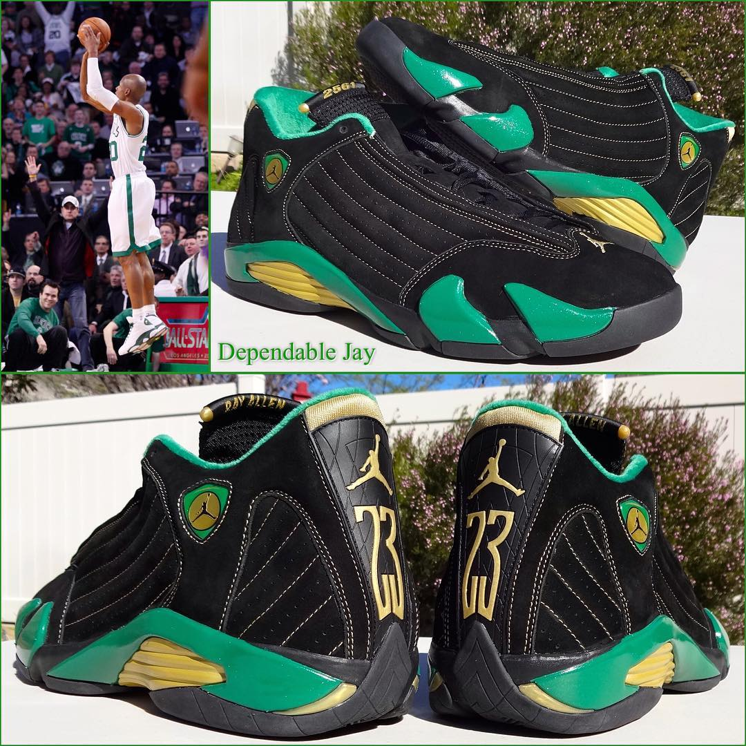 0c361b9ac2df1d ireland air jordan retro xiii 13 ray allen 12065 00c41  hot ray allens 2561 air  jordan 14 pe 1 f712e 6f700
