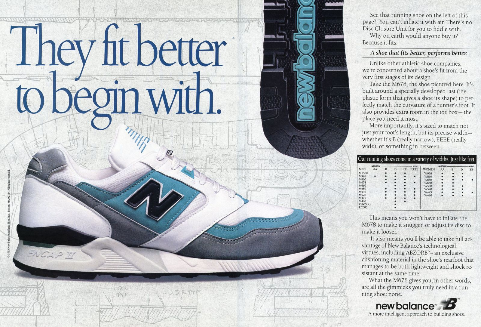 349d17675a21 Vintage Ad  New Balance Running 1993