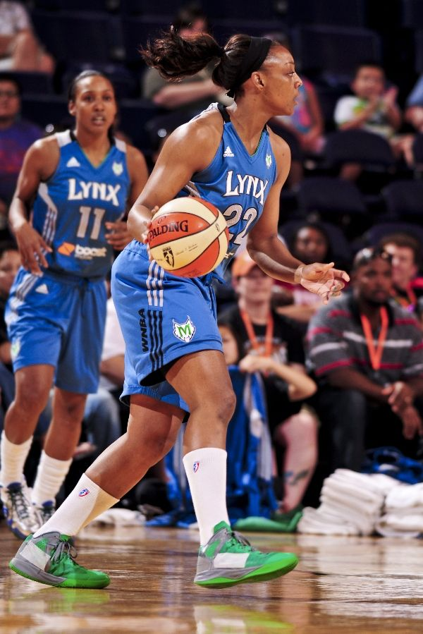 Monica Wright wearing Nike Zoom Hyperenforcer