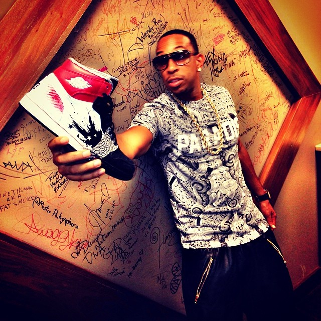 Ludacris wearing Dave White x Air Jordan I 1