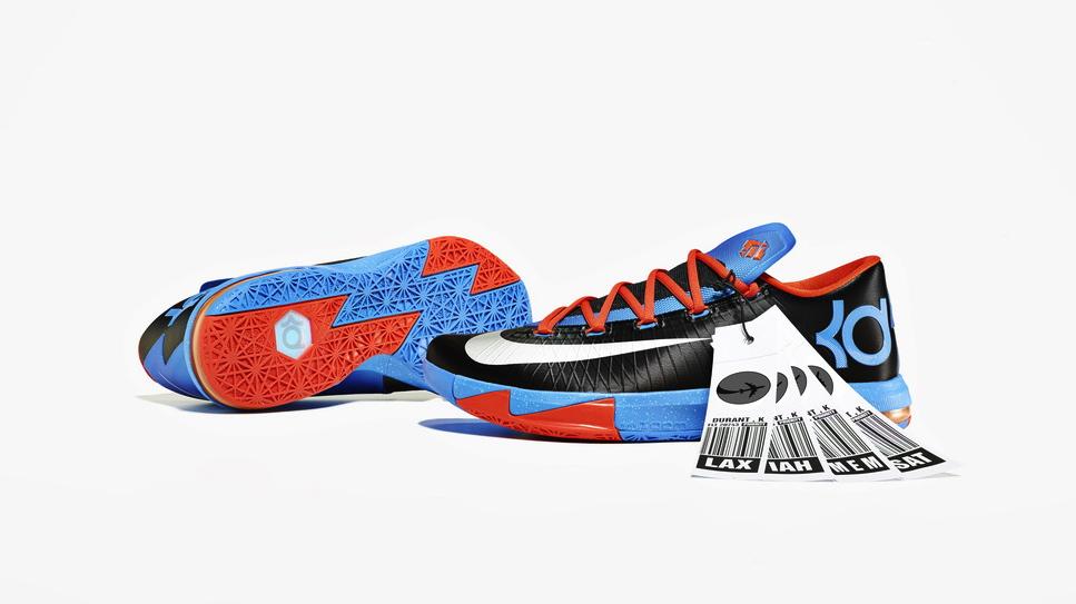 Nike KD 6 VI Thunder Away colorway