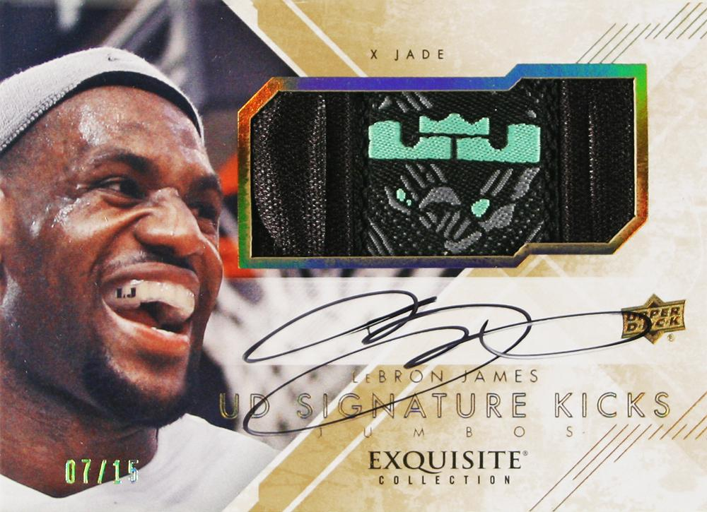 Upper Deck Exquisite Kicks: LeBron James Jade 10