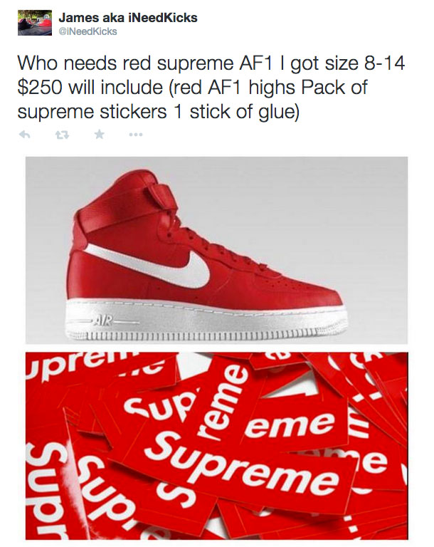 Twitter Reacts to the Supreme x Nike Air Force 1 Release (10)