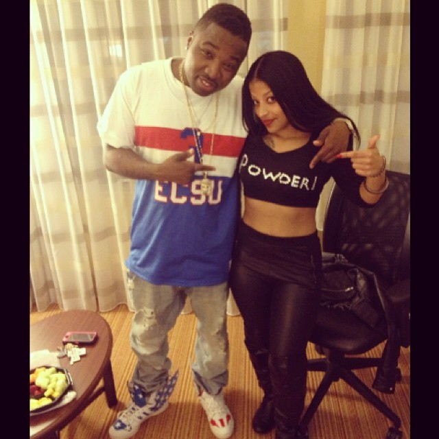 Troy Ave wearing adidas Jeremy Scott Wings 2.0 USA