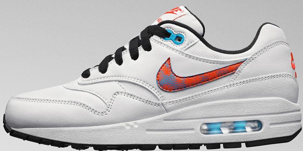 Nike Air Max 1 GS White/Orange-Blue