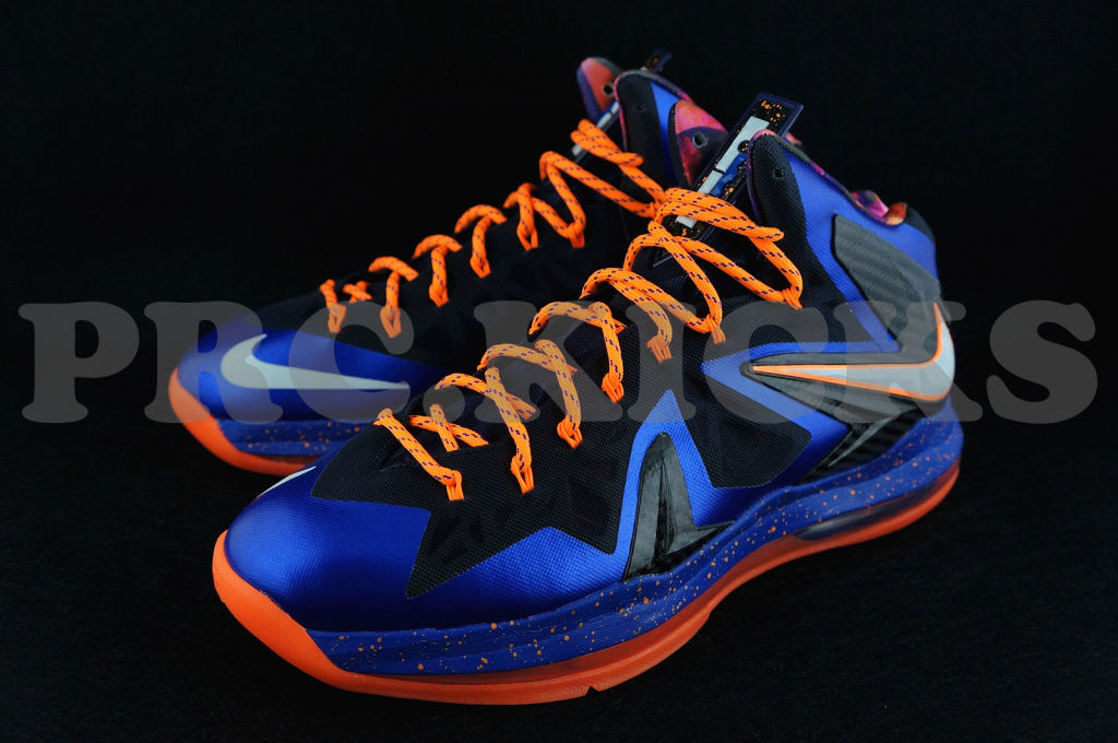 finest selection 15c38 3a666 Nike LeBron X PS Hyper Blue Black Orange 579827-400 (2)