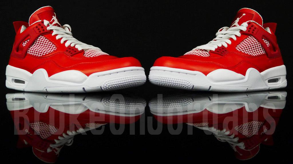 envío libre disfrutar Air Jordan 4 Rojo Muestra Blanco compra venta barata 6z9tRPvY
