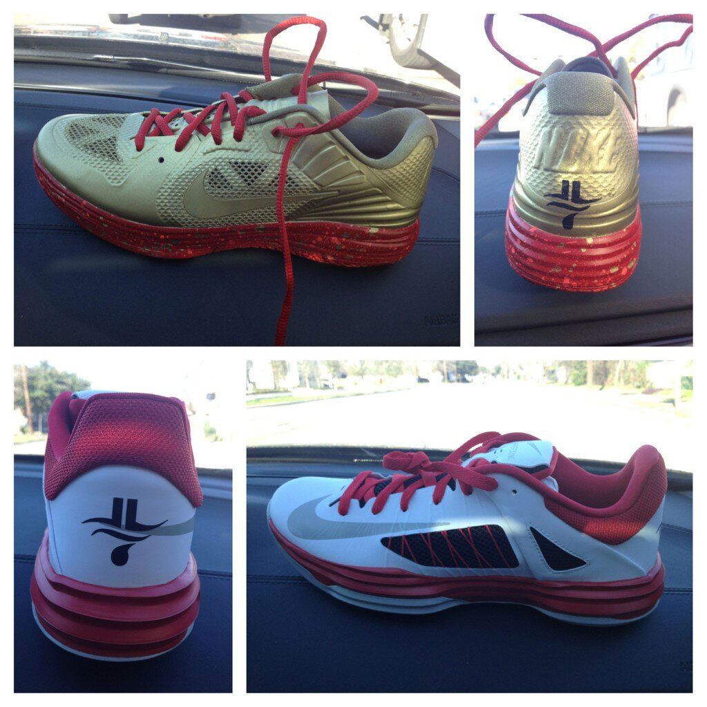 Jeremy Lin's PE Nike Shoe Options for Skills Challenge // Lunar Hypergamer or Hyperdunk Low