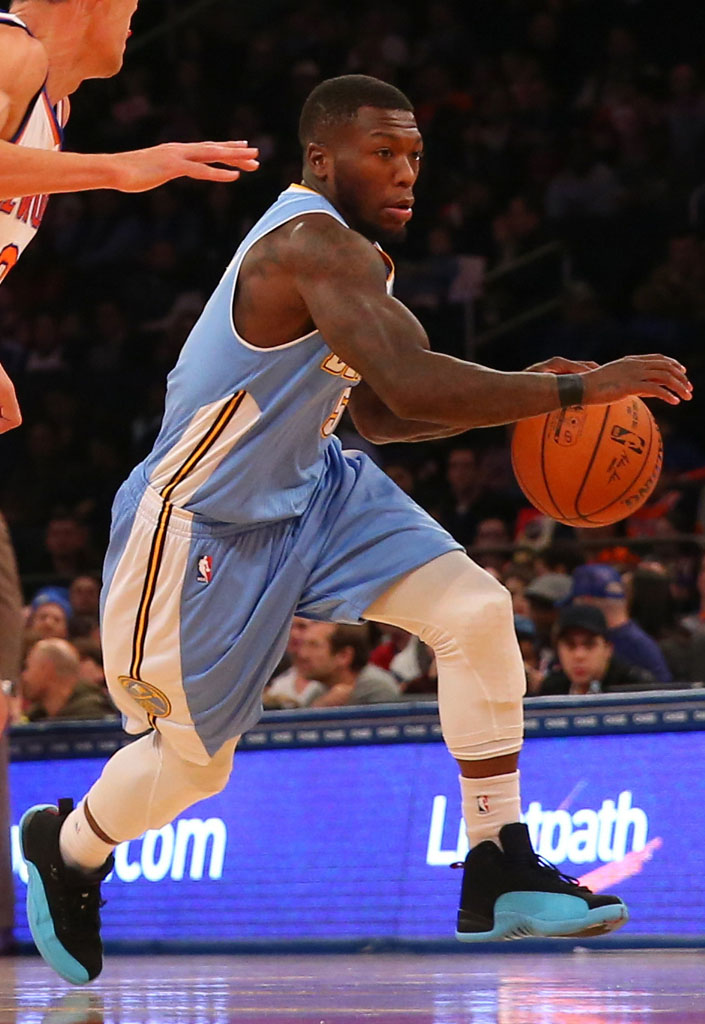 Nate Robinson wearing Air Jordan XII 12 'Gamma Blue'