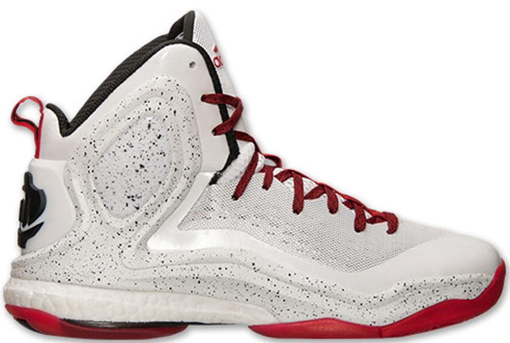 adidas D Rose 5 Boost White/Scarlet-Light Onix-Core Black