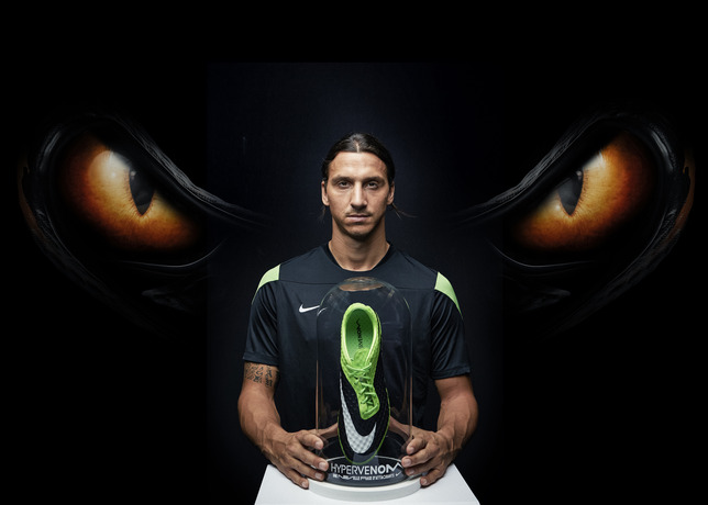nike hypervenom flash lime colorway worn by zlatan ibrahimovic