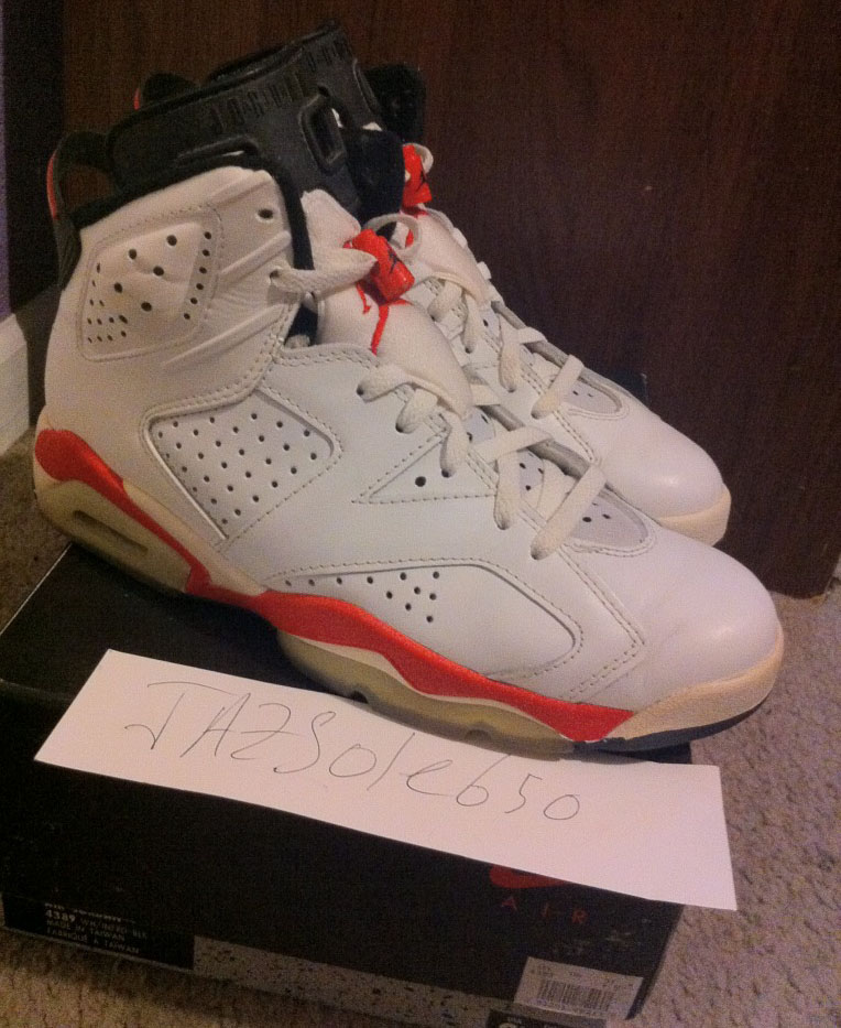 Pickups of the Week // Air Jordan VI 6 White Infrared by jazzsole650