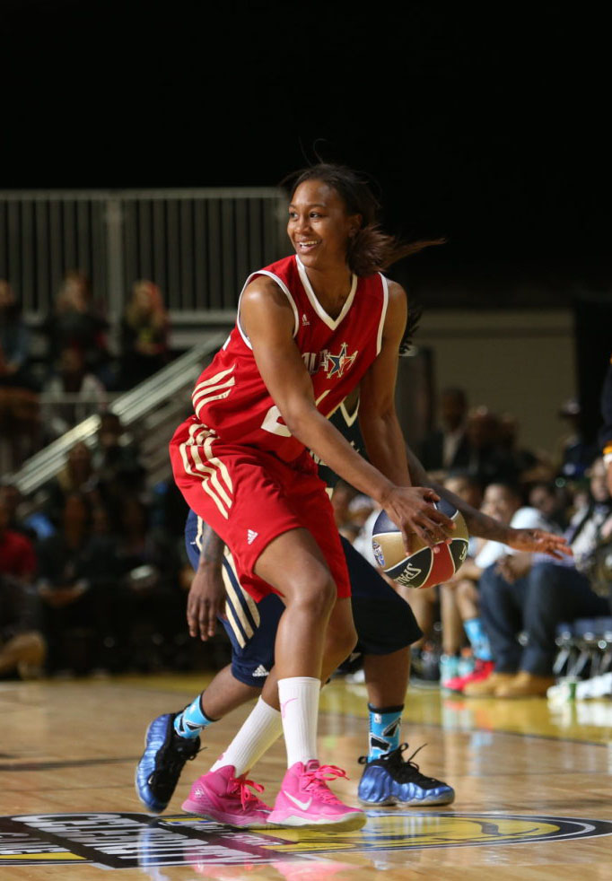 Tamika Catchings wearing Nike Zoom Hyperdisruptor