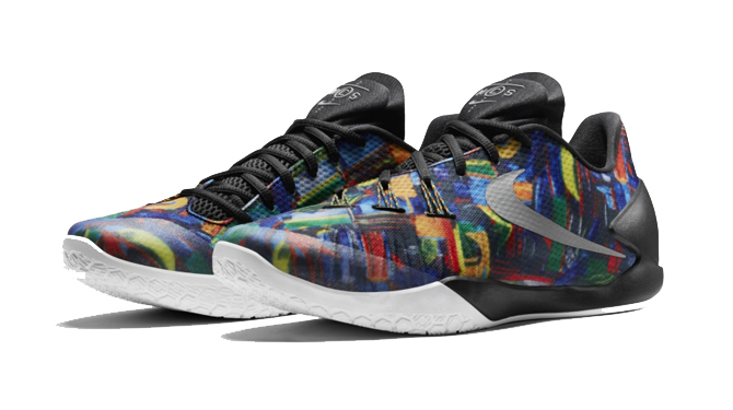 b2d16dce25c0 A busy print shows up for the new Nike Basketball silhouette.