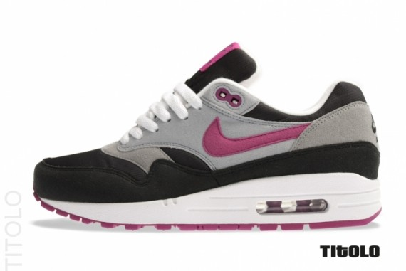 Nike WMNS Air Max 1 - Black/Wolf Grey-Rave Pink | Sole Collector