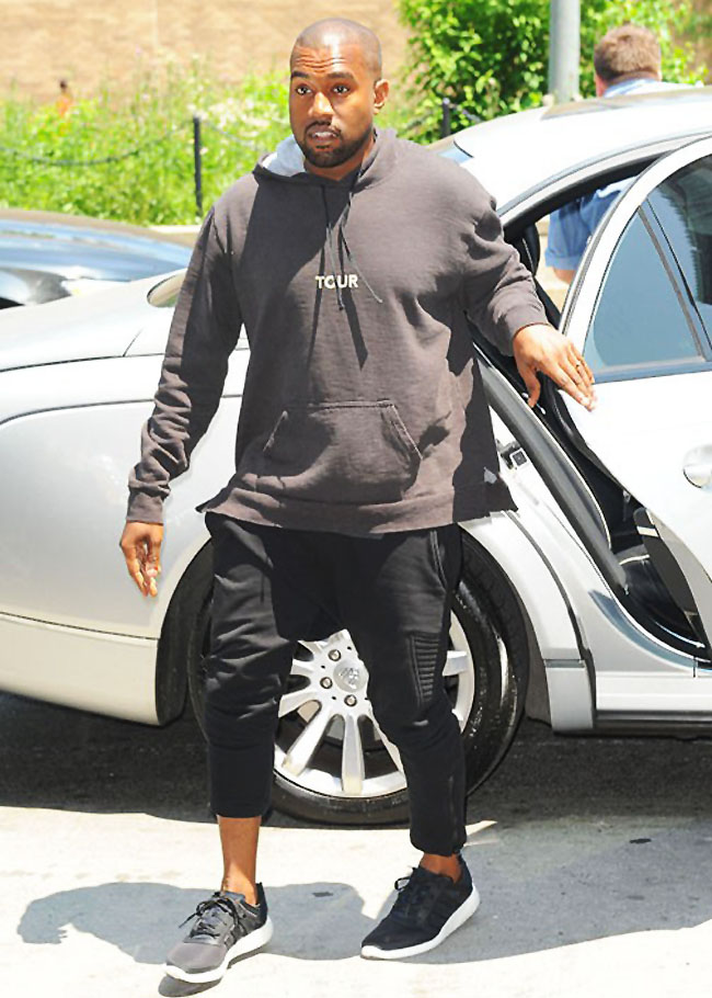 Kanye West wearing adidas Pure Boost