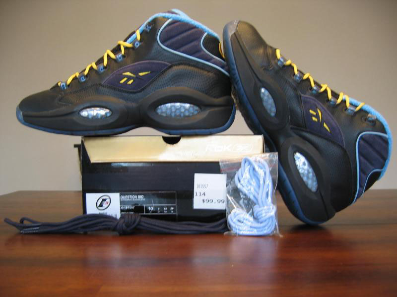 Reebok Question Black/Graphite/Carolina Blue/Golden Rod