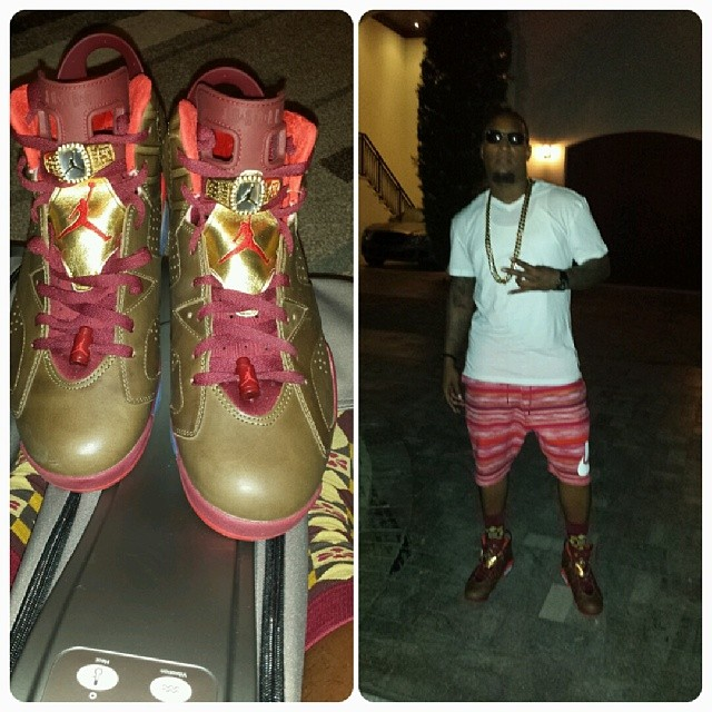 Da Real Lambo wearing Air Jordan VI 6 Cigar