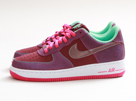 nike air force 1 low cherrywood redpink foil cherry air force 1