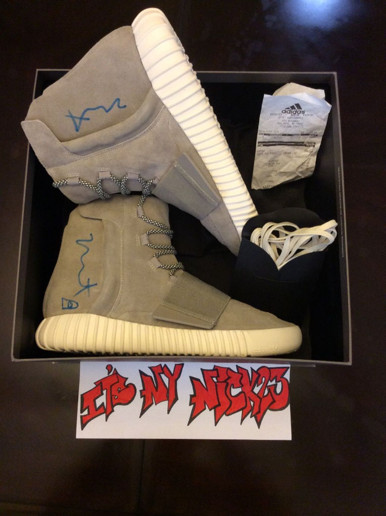 Kanye West Signed & Sketched adidas Yeezy 750 Boost (5)