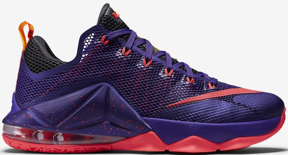 Nike LeBron 12 Low Court Purple/Bright Crimson-Cave Purple-Laser Orange