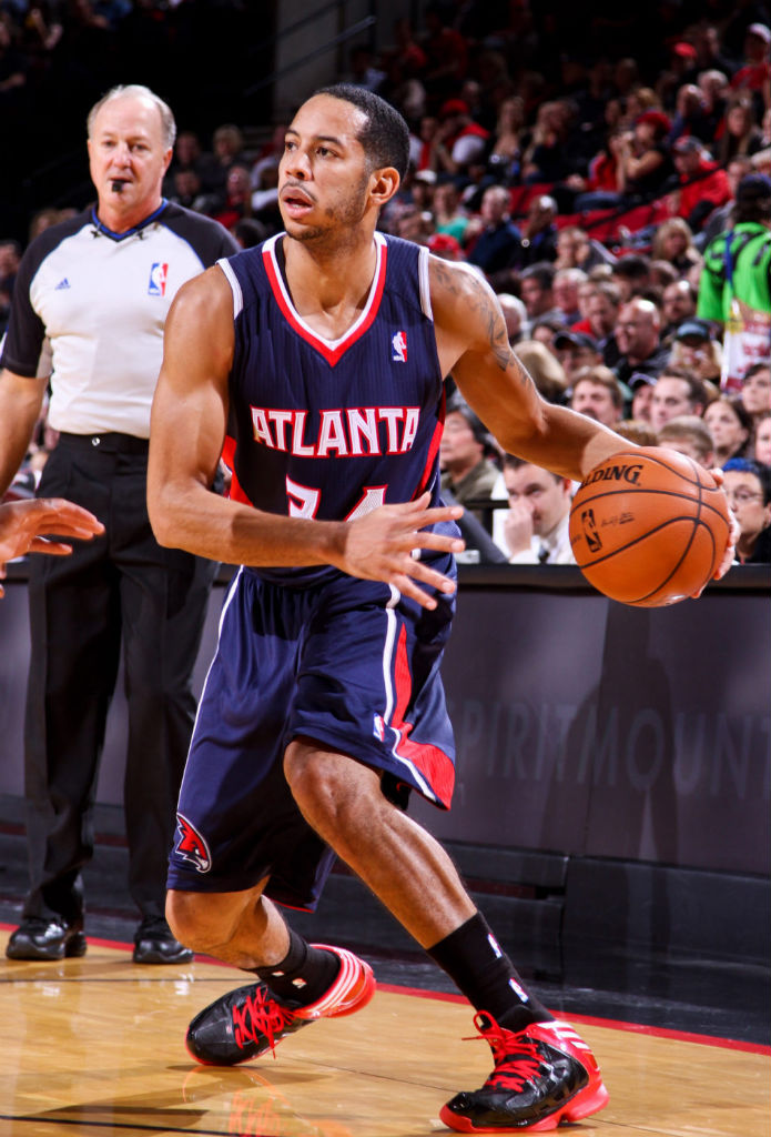 Devin Harris wearing adidas Crazy Shadow
