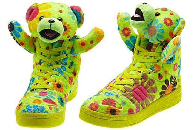 adidas Originals JS Teddy Bears Flower Power Shoes Lil' Wayne Jeremy Scott