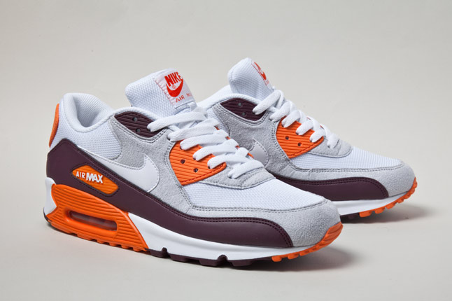 Nike Air Max 90 White And Orange