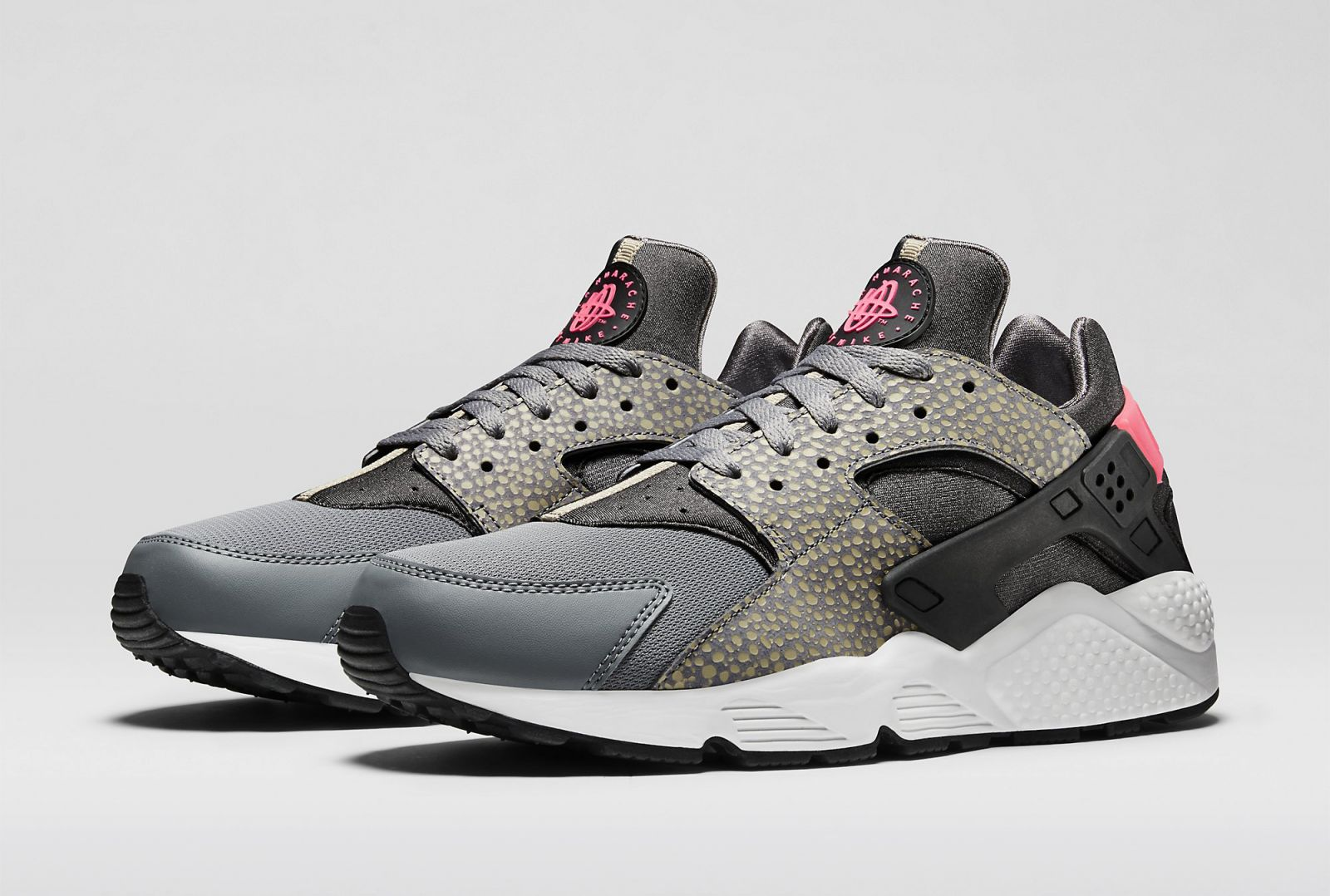 cool grey air huaraches with safari print sole collector. Black Bedroom Furniture Sets. Home Design Ideas