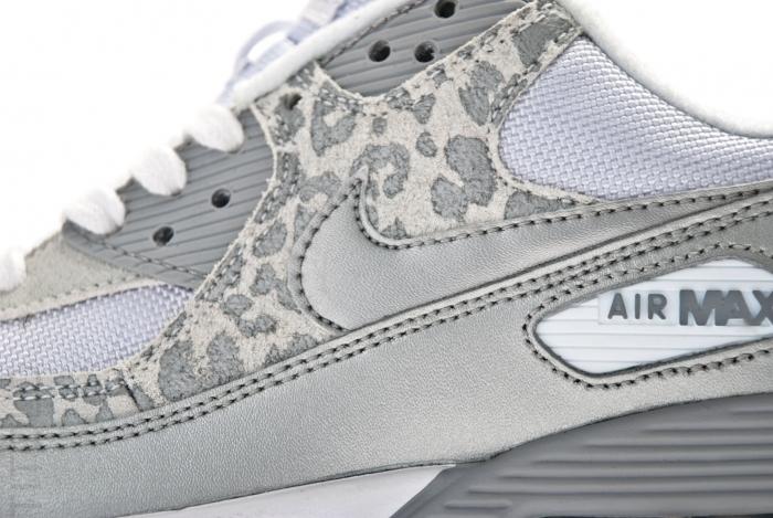 Nike Air Max 90 Womens Leopard Print White Silver