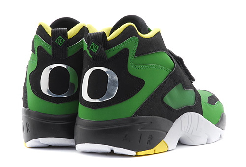 Nike Air Diamond Turf Oregon Ducks heel detail
