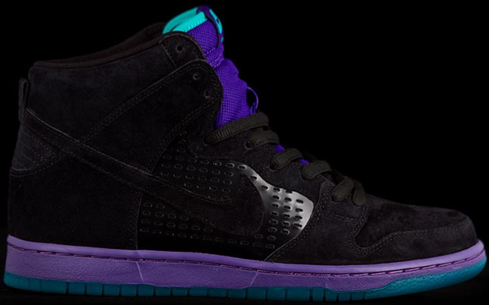 Nike Dunk High Premium SB Black/Grape Ice-New Emerald-Black