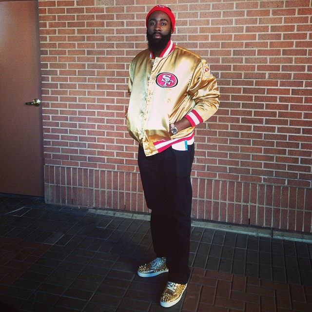 James Harden wearing Christian Louboutin Louis Flat