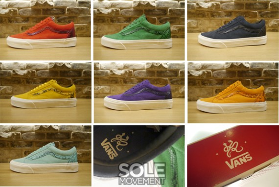 43b43196ec Vans joins the Chinese New Year celebration with the release of the Old  Skool in seven snakeskin-accented looks.