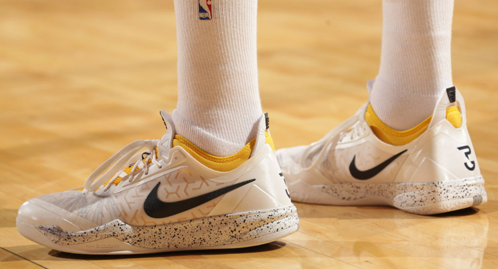 Paul George wearing Nike Zoom Crusader Home PE