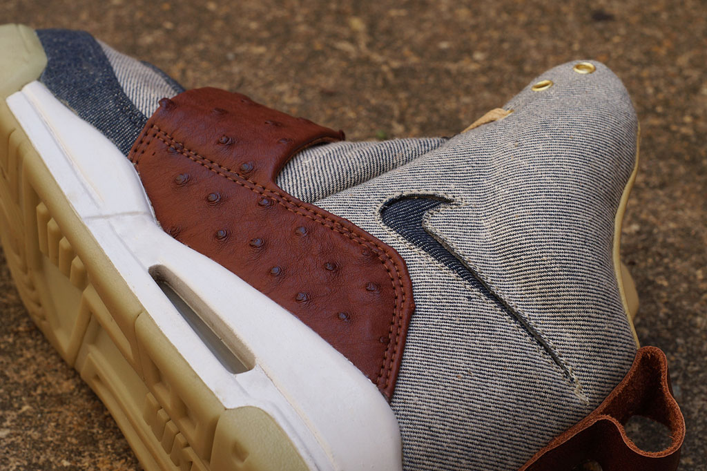 Nike Air Yeezy 'Ostrich + Denim' by JBF Customs (3)