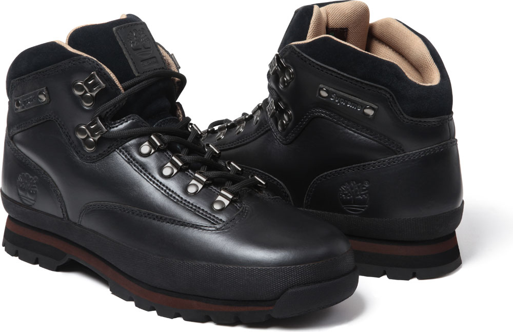 timberland euro hiker black leather