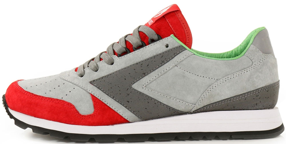 Brooks Chariot Granite Grey/Fiery Red-Limestone-Classic Green