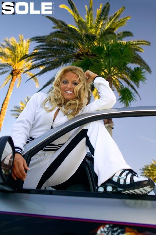 Trish Stratus wearing the Nike Shox Turbo via Sole Collector