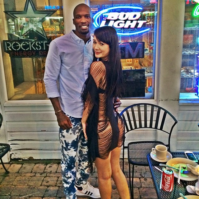 Chad Johnson wearing adidas Originals Top Ten Hi