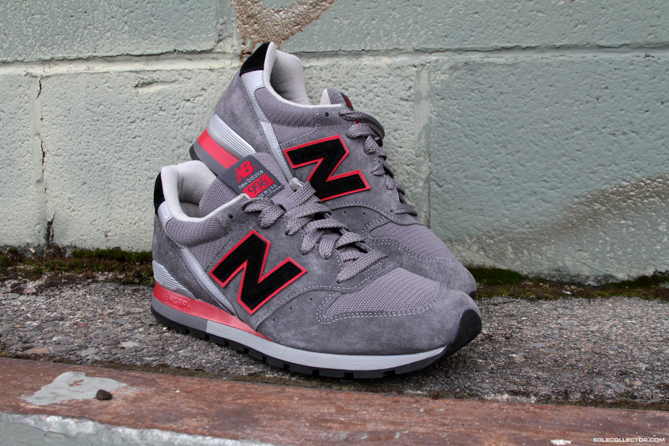 new balance 996 made in the usa - grey/red/navy